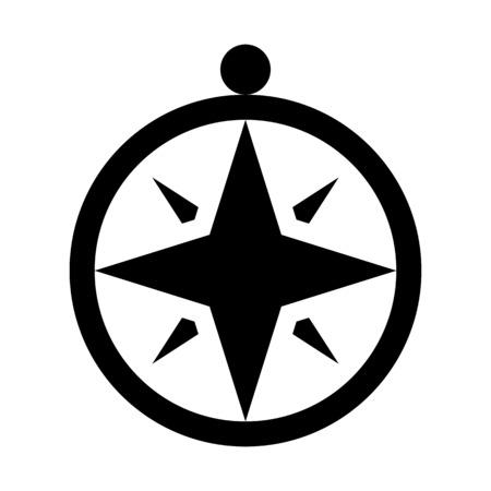 Windrose or compass rose illustration on plain background. Ilustração