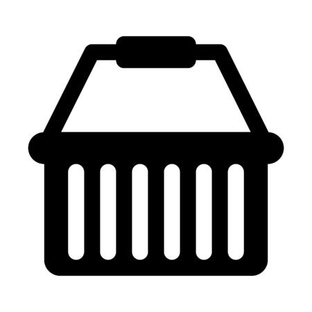 Basket with grip handle illustration on plain background. Ilustração