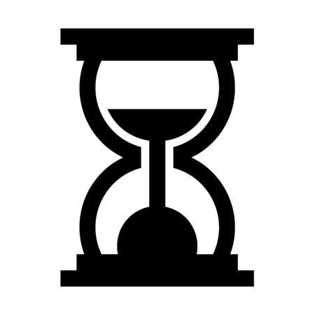 A sand clock illustration on plain background.