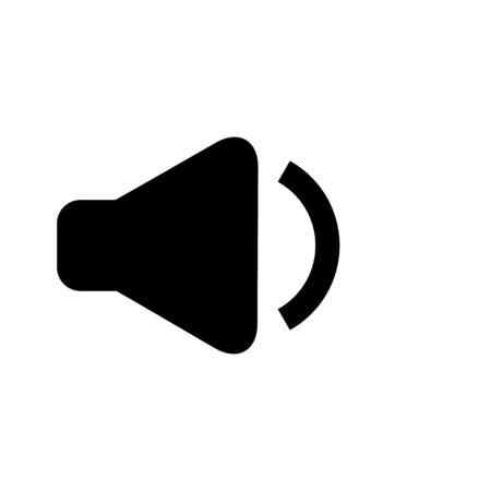 プレーンな背景上の最小音量ボタンのイラスト。