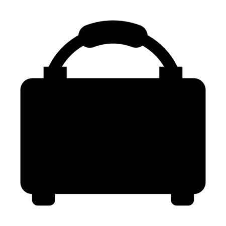 A baggage illustration on plain background.