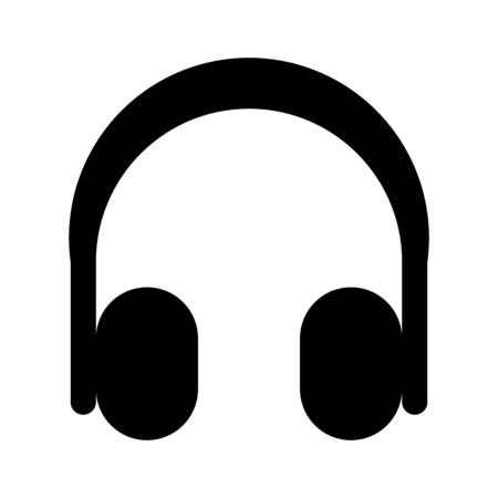 Wireless stereo headphone illustration on plain background.