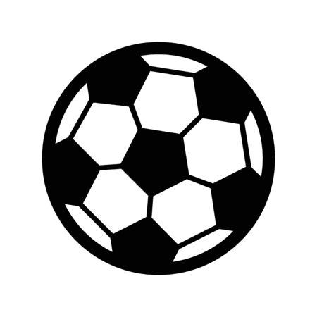 Voetbalbal - Openluchtspelillustratie op duidelijke achtergrond. Stock Illustratie