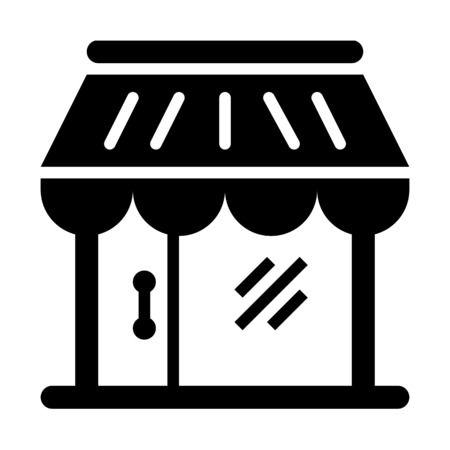 Medium enterprises retail store illustration on plain background.