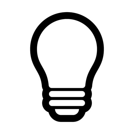 Modern led bulb illustration on plain background. 向量圖像