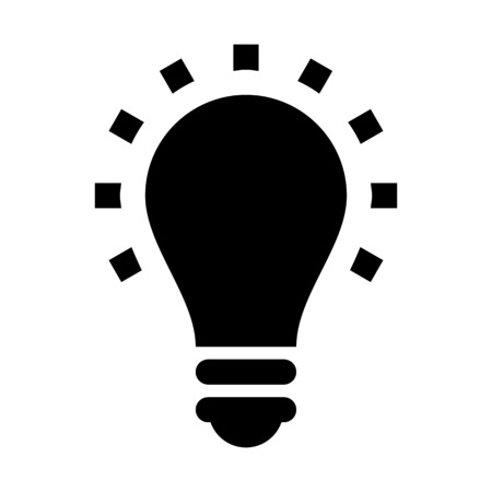 Illuminating light bulb illustration on plain background.