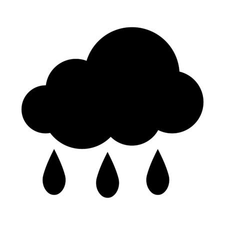 Rainy season illustration on plain background.