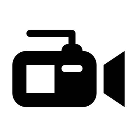 professional video camera illustration on plain background.