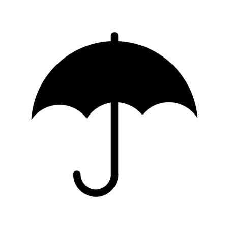 A umbrella or parasol - folding canopy illustration on plain background.