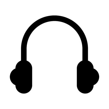 Stereo headset speaker illustration on plain background. Illustration
