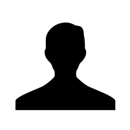 A profile picture illustration on plain background. 일러스트