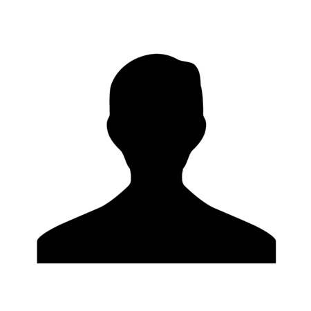 A profile picture illustration on plain background. Illustration