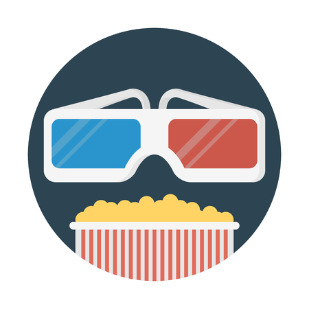 3d glasses and popcorn