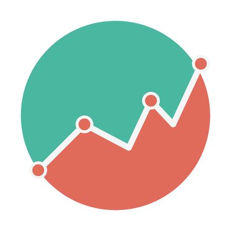 一貫性のない行グラフ  イラスト・ベクター素材
