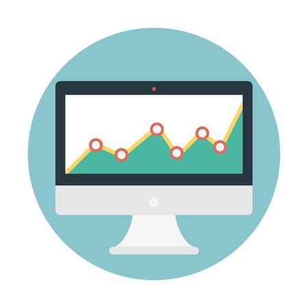 Performance graph monitoring  イラスト・ベクター素材