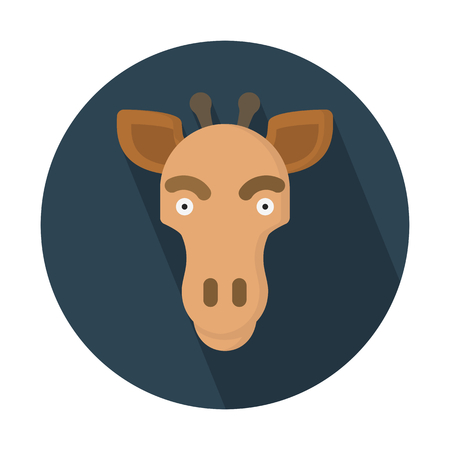 기린, 가장 높은 육지 동물 일러스트