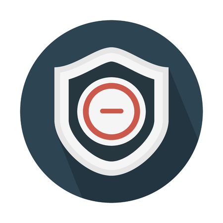 System security blocked Ilustrace