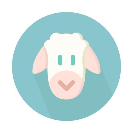 Sheep, livestock animal Ilustração