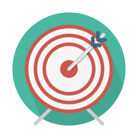 Archery board. Targeted business. Illustration