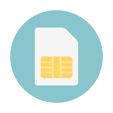 Micro sim card illustration