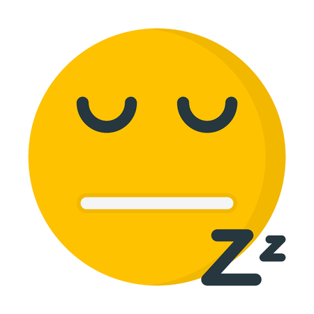 Sleepy emoji illustration