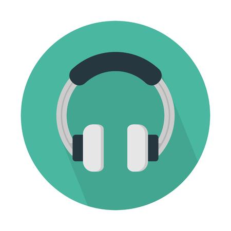 Headphones, listen audio. Illustration