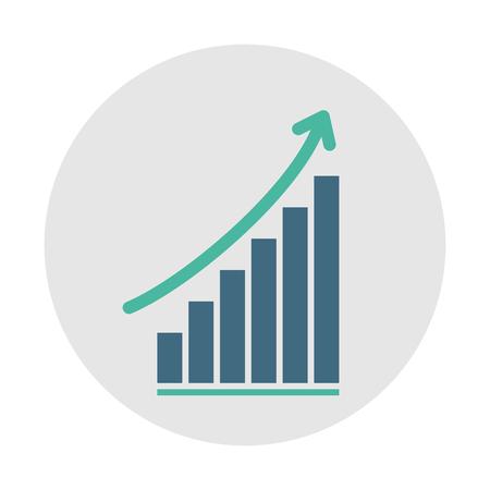Growth bar chart  イラスト・ベクター素材