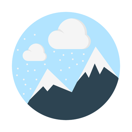 Snow mountains illustration