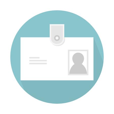 Personal identity card Illustration