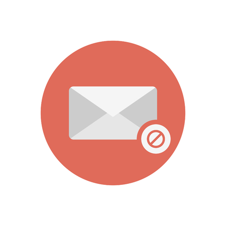 spam mail symbol Vector illustration.