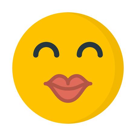 Kiss emoji illustration