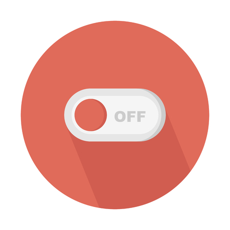 Switch off toggle button Иллюстрация