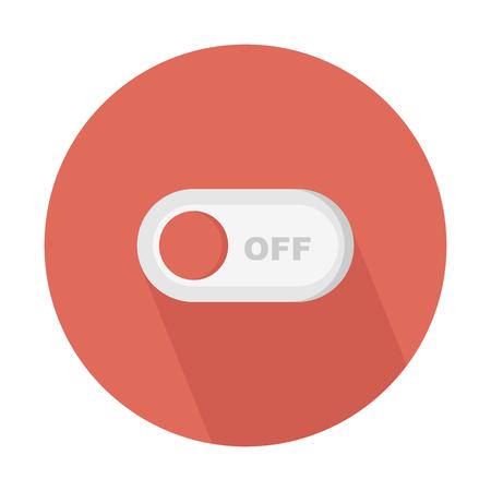 Switch off toggle button Illusztráció