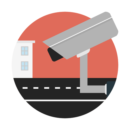 Security surveillance camera Иллюстрация