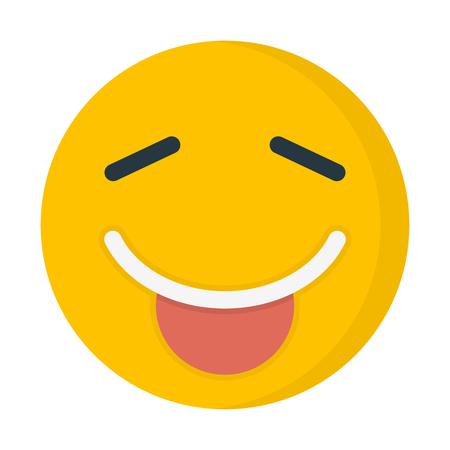 tongue out emoji  イラスト・ベクター素材