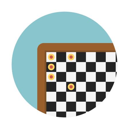 Chessboard indoor game 向量圖像