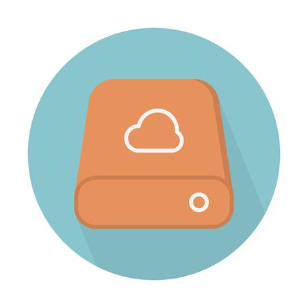 Cloud storage drive Illustration