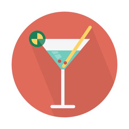 Cocktail drink served Illustration