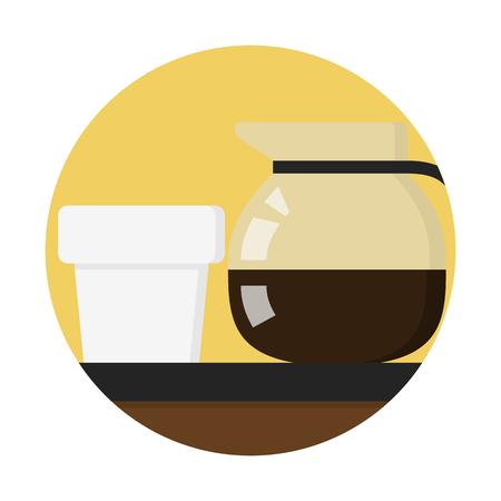 Coffee pot with mug