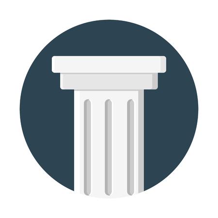 Colonial pillars support Illustration