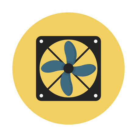 Computer exhaust fan Illustration