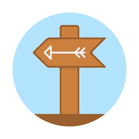 Left direction signboard