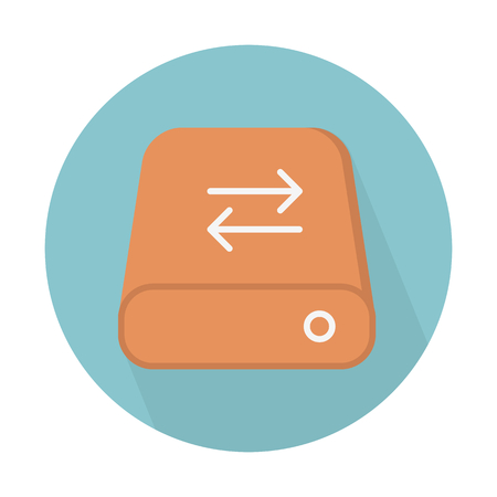 Disk sync arrows Illustration