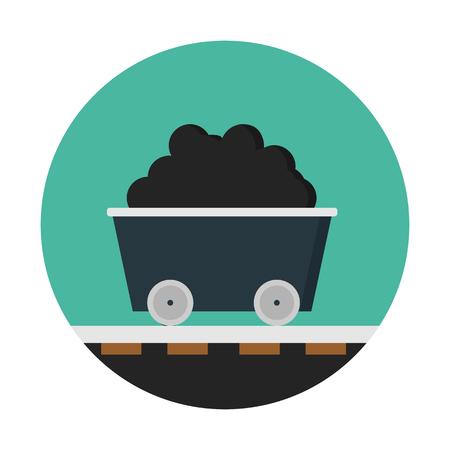 Mine cart on tracks