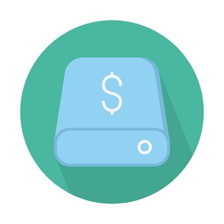 Money database drive Illustration