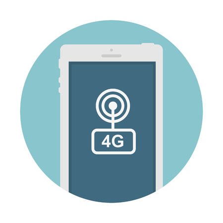 4g services on mobile phone. Vector illustration.