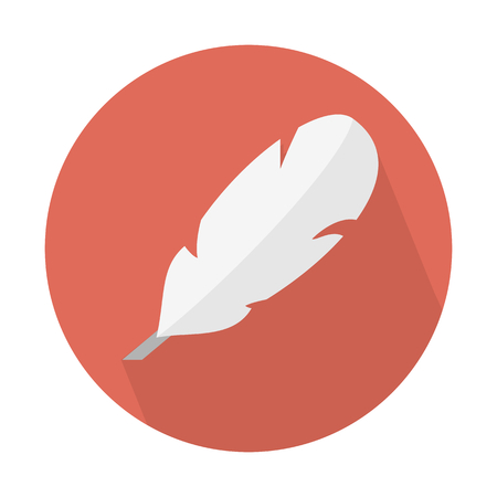 Quill feather pen Иллюстрация