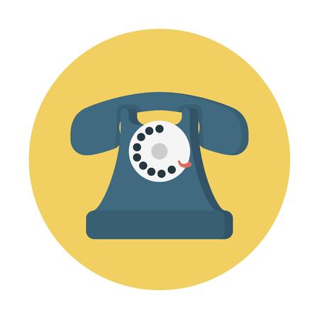 conventional telephone Vector illustration. Illustration