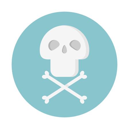 Skull danger sign 向量圖像