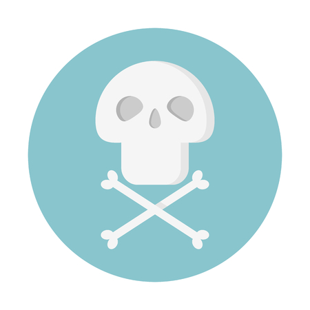 Skull danger sign Illustration